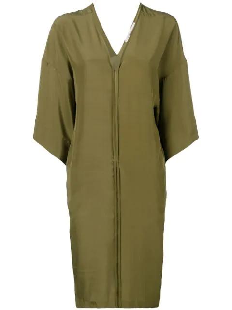 A.F.Vandevorst Oversized Silk Dress - Green