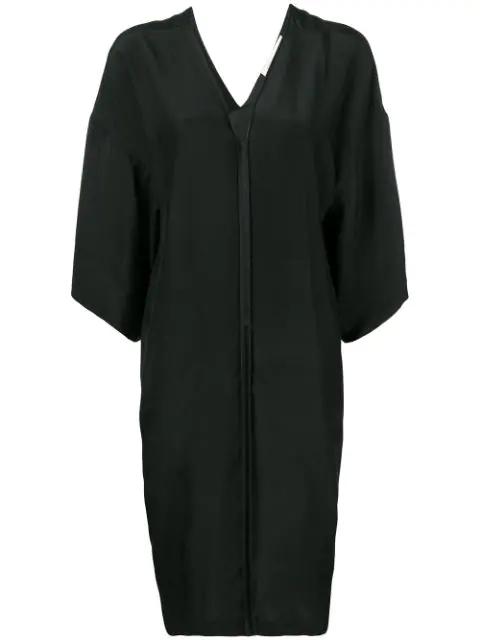 A.F.Vandevorst V-Neck Silk Dress - Black