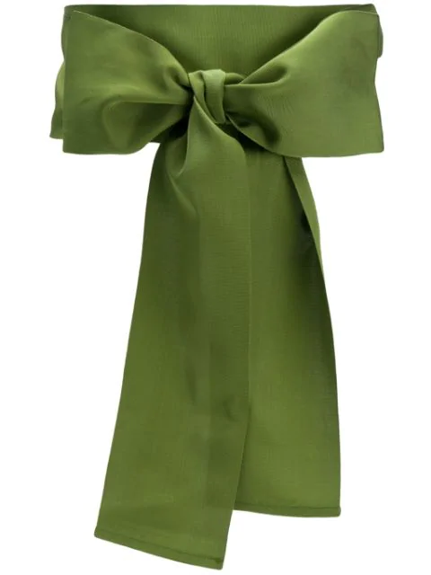 Sara Roka Bow Detail Belt In Green