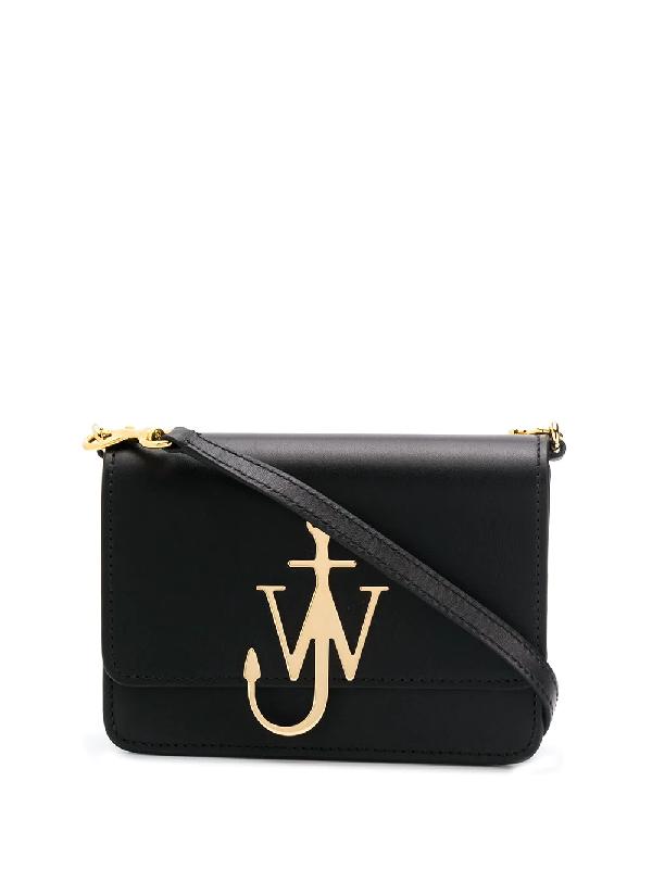 Jw Anderson Anchor Logo Bag In Black