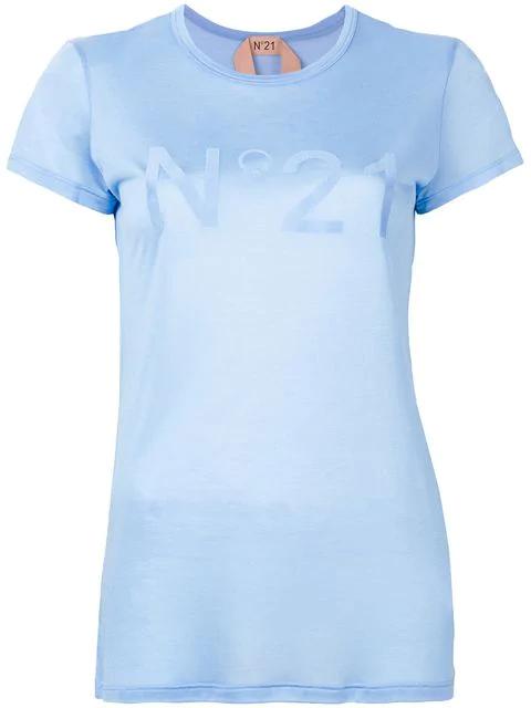 N°21 Printed Logo T In Blue