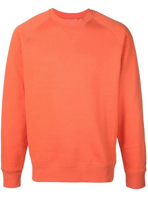 Carhartt Chase Rib-trimmed Sweatshirt In Orange