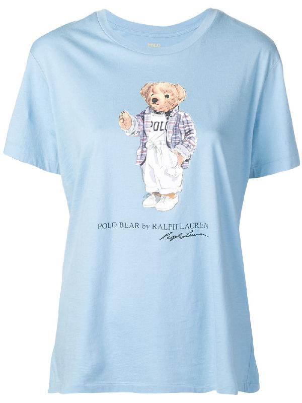 83d9c08e199f38 Polo Ralph Lauren T-Shirt Mit Logo - Blau In Blue