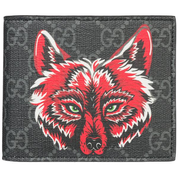 6fc4b201692 Gucci Gg Supreme Wolf Wallet In Black. CETTIRE