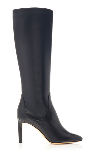Jimmy Choo Tempe Knee-High Leather Boots In Black