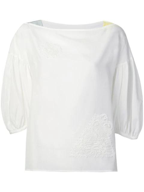 Tsumori Chisato Embroidered Detail Blouse In White
