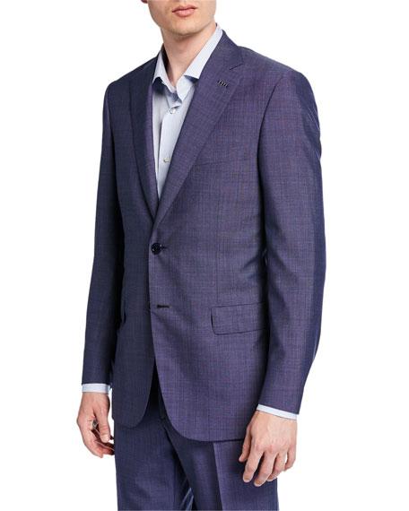 Brioni Men's Tic-Pattern Wool Two-Piece Suit In Blue