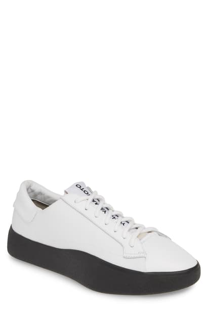 Y-3 Men's Tangutsu Low-Top Sneakers In White/ White/ Core Black