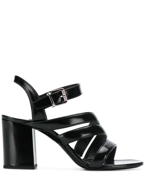 Barbara Bui Open-Toe Buckle Sandals - Black