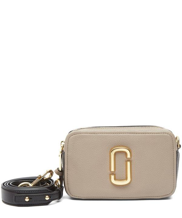 d24e20c7f018 Marc Jacobs The Softshot 21 Leather Crossbody Bag In Cement Multi ...
