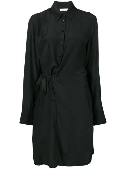 A.F.Vandevorst Waist-Knot Silk Dress - Black