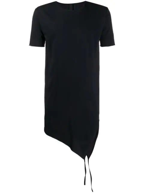 Army Of Me Asymmetric Longline T-shirt In Black