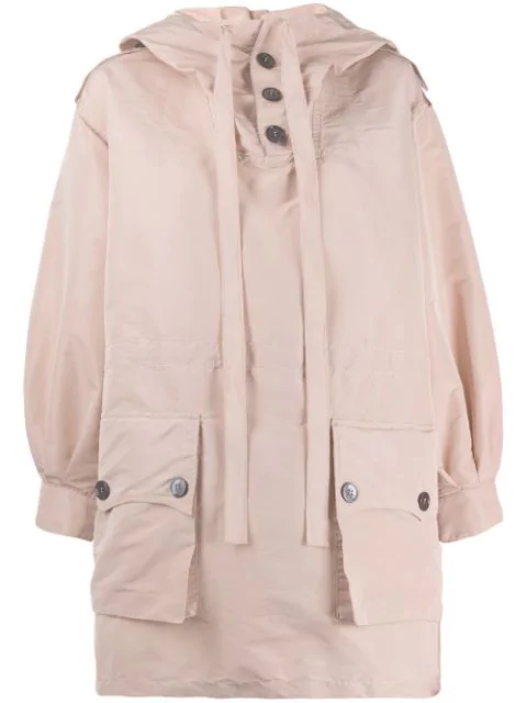 N°21 Button Hooded Jacket In Pink