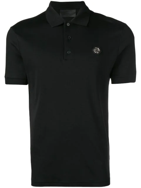 Philipp Plein Classic Polo Shirts In Black