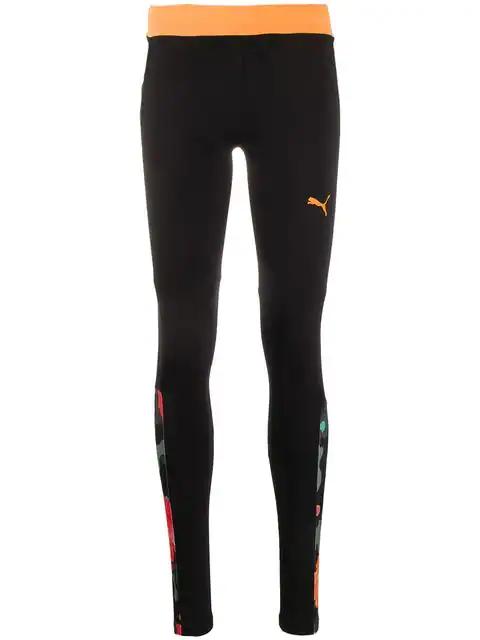 Puma X Sue Tsai Floral-Panel Leggings In Black