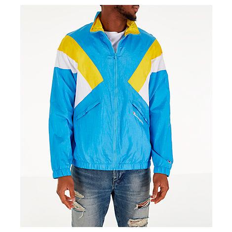 Champion Men's Nylon Colorblock Track Jacket In Blue Size 3X-Large Nylon/Polyester
