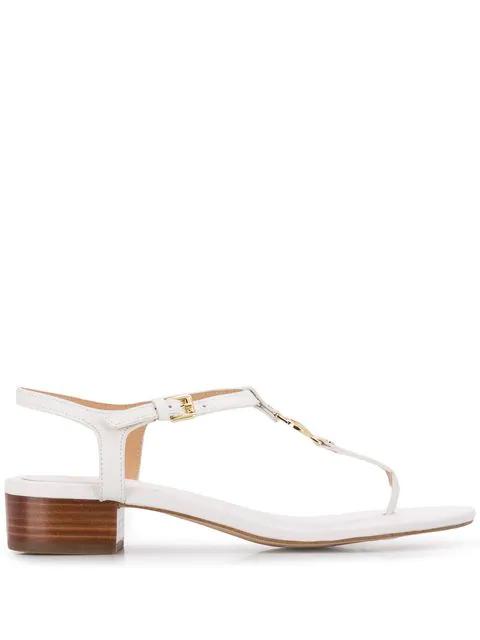 Michael Michael Kors Monogram Sandals - White