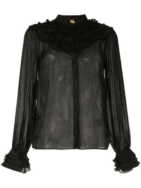 Aje 'Maddison' Bluse - Schwarz In Black