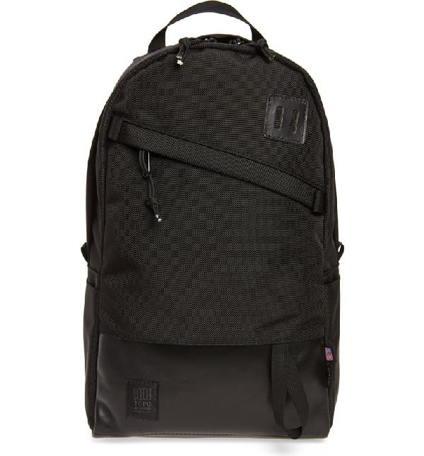 Topo Designs Daypack Cordura® Nylon Backpack In Ballistic Black/ Black