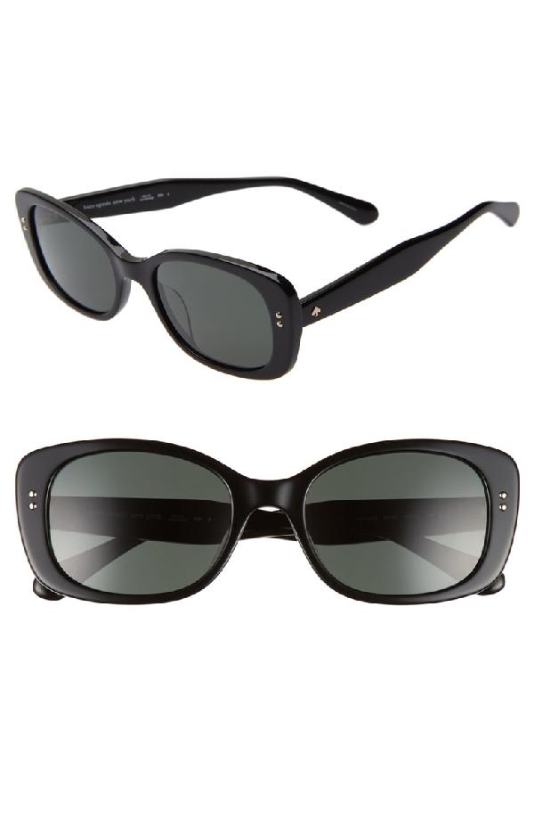 3a007bb33769 Kate Spade Citianigs Rectangle Acetate Sunglasses In Black | ModeSens