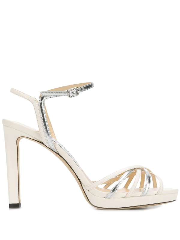 60474f5d59 Jimmy Choo Women's Lilah 100 High-Heel Platform Sandals In Neutrals ...