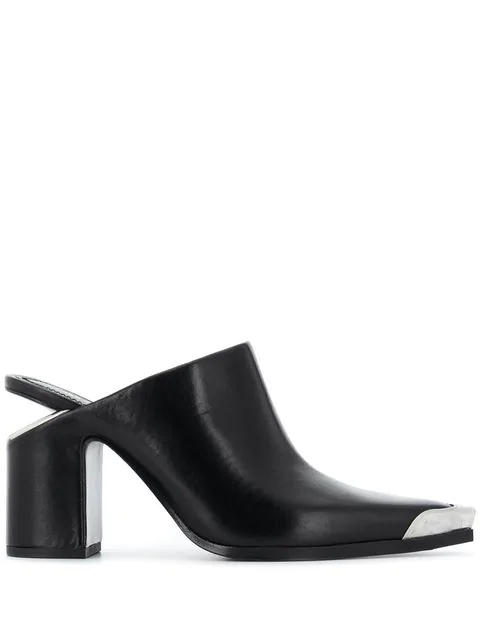 Alexander Wang Women's Su Western Block Heel Mules In Black