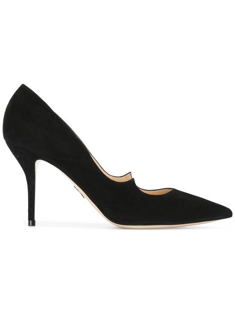 Paul Andrew Kimura Suede Point Toe Pumps In Black