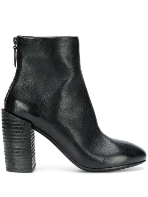 MarsÈLl Block Heel Ankle Boots In Black