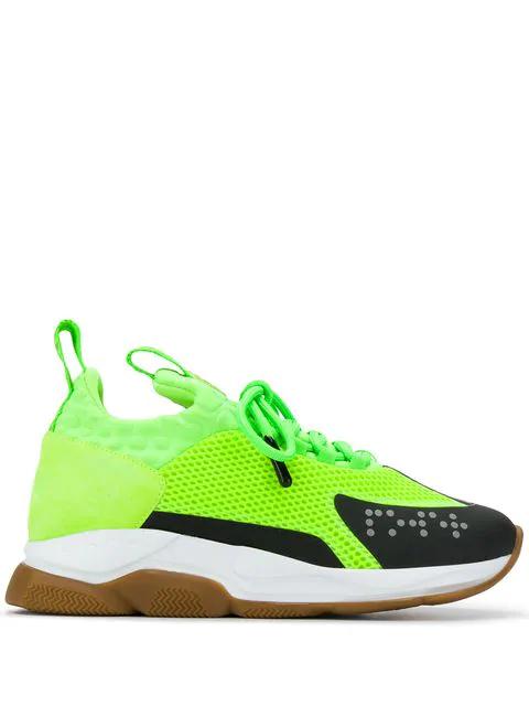 Versace Men's Cross Chainer Neoprene & Mesh Sneakers In Green