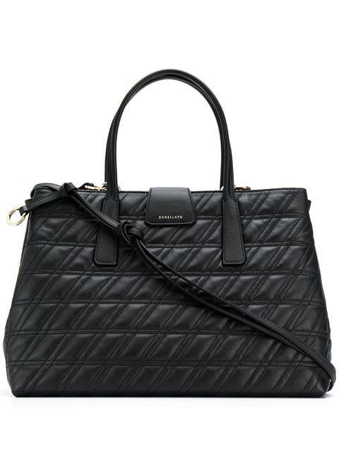 Zanellato Gesteppte Handtasche In Black