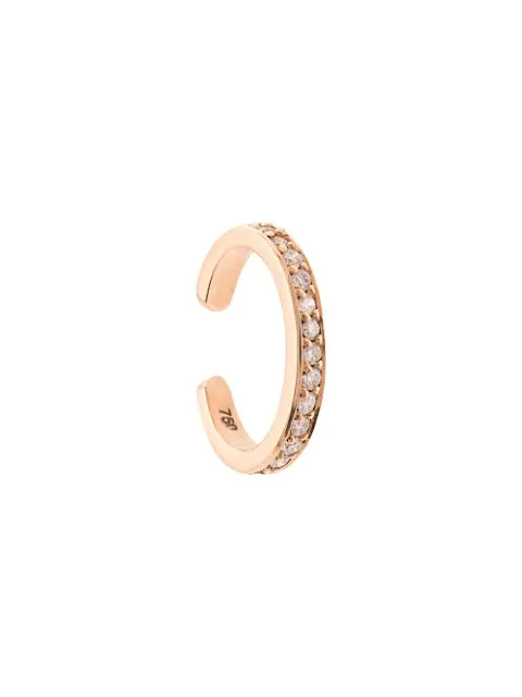 Anita Ko 18kt Rose Gold Single-row Diamond Ear Cuff