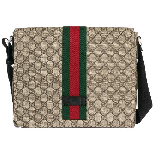 0a8573f5eae Gucci Gg Supreme Web Messenger Bag In Multi. CETTIRE