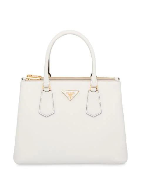 Prada Galleria Top Handle Bag In White