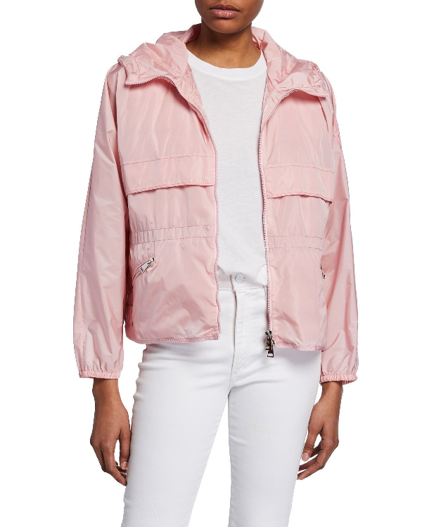 18756cc00 Benjul Short Raincoat in Blush