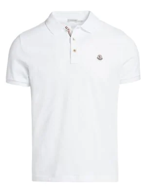 Moncler Men's Classic Logo Patch Top In White