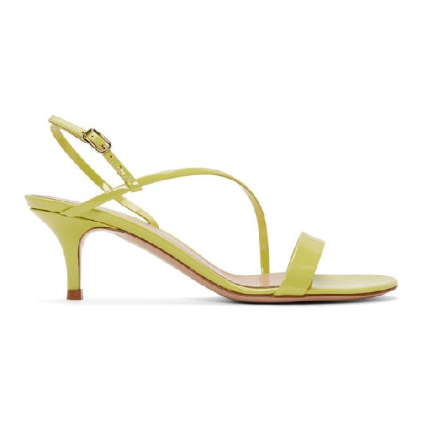 Gianvito Rossi Manhattan 55 Leather Sandals In Lemonade