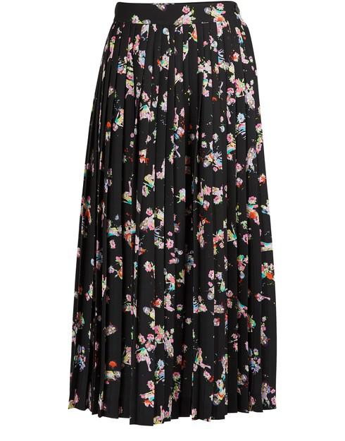 Maison Margiela Kawai Printed Midi Skirt In Black