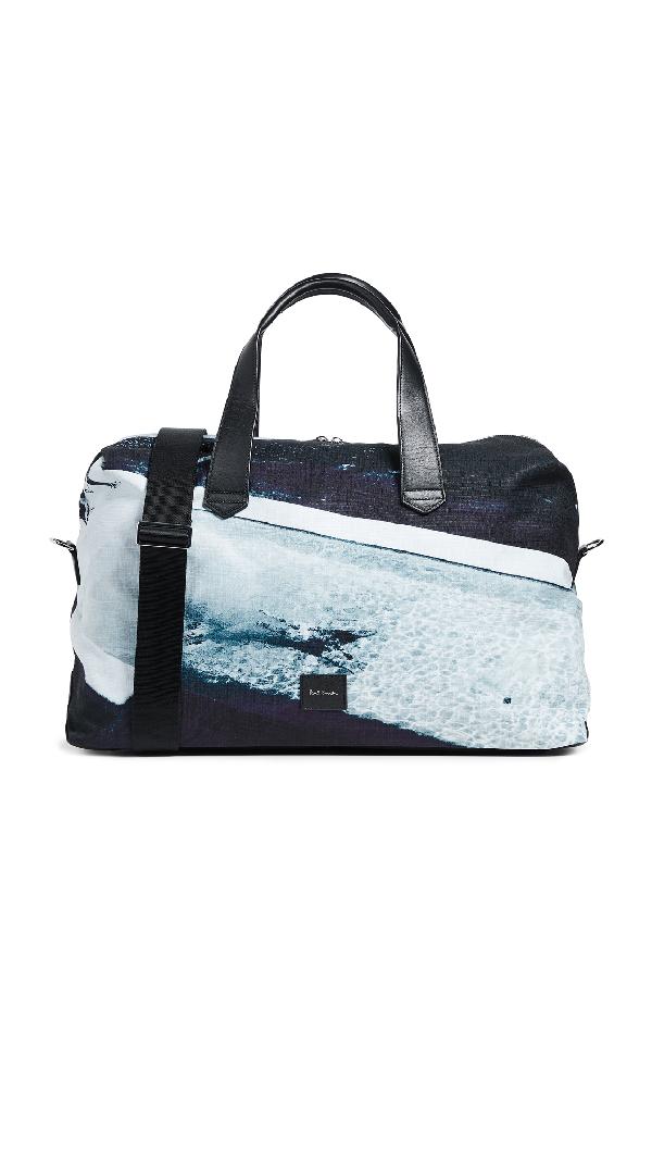 Paul Smith Photo Print Holdall Duffel Bag In Black