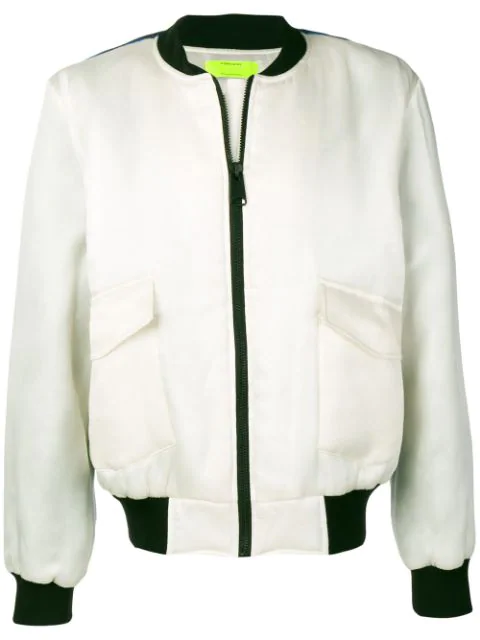 Ex Infinitas Extreme Surfer Bomber Jacket In White