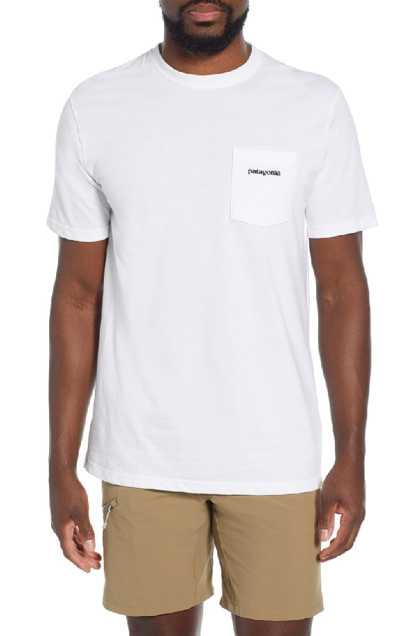 Patagonia P-6 Logo Pocket Responsibili-Tee T-Shirt In White