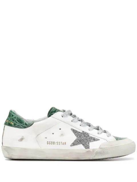 Golden Goose Superstar Crystal Crocodile Low-top Sneakers In O37 ...