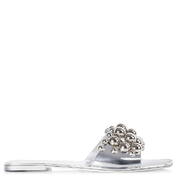 Le Silla Belly Sandal In Silver