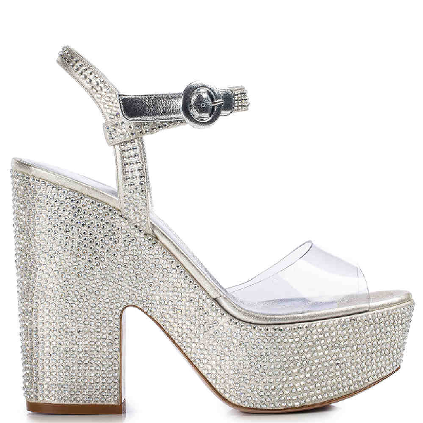 Le Silla Queen Sandal 140 Mm In Marble