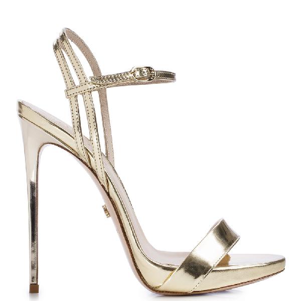 Le Silla Gwen Sandal 120 Mm In Platinum