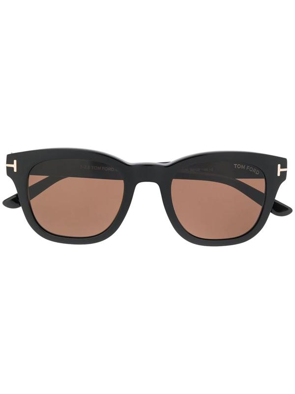 Tom Ford Square Sunglasses In Black