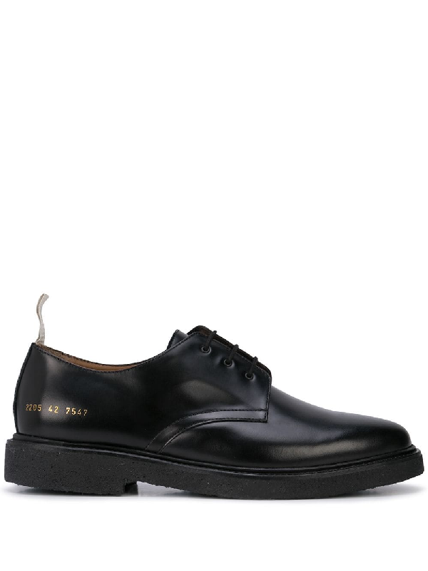 Common Projects Contrast Pull Tab Oxford Shoes - Black