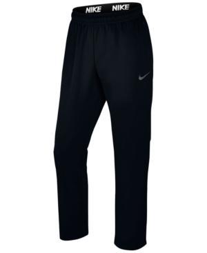 Men's Therma Fleece Open-bottom Sweatpants In Black