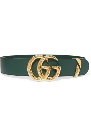 9b5a149f1f2 Gucci Leather Waist Belt In Green