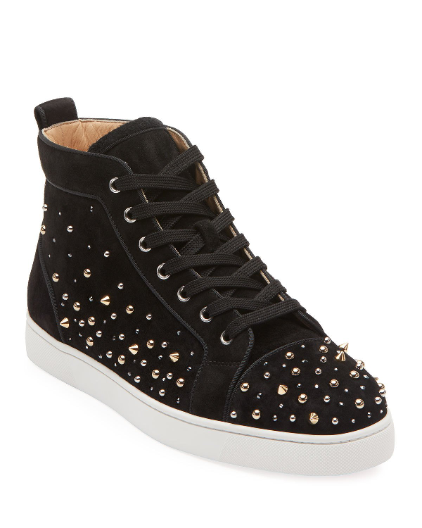 size 40 36fab 5e350 Men's Louis High-Top Spiked Sneakers in Black