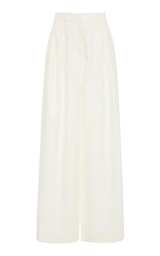 Zimmermann Moncur Wide-Leg Silk Trousers In White